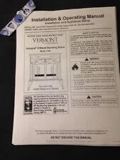 Vermont Castings Intrepid II  wood stove manual operation installation