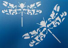 Scrapbooking - STENCILS TEMPLATES MASKS SHEET - Dragonfly Flourish Stencil