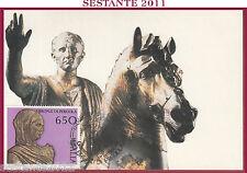 ITALIA MAXIMUM MAXI CARD 1988 I BRONZI DI PERGOLA 650 NERONE ANNULLO PS B8