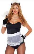 NEW! Wipe Me Down Sexy Adult Women's Forplay French Maid Costume 552727 L/XL