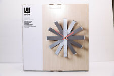 Umbra Ribbon Wall Clock, Stainless Steel (NIB Opened)