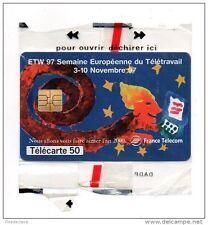 Telécarte 50U - Télétravail - ETW, Semaine Européenne Novembre 97 - F800 - Neuve