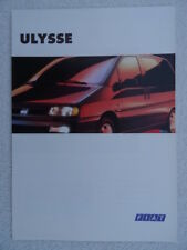 Fiat Ulysse 1995 UK sales brochure featuring 1.9 and 2 litre models