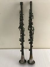 Lot of 2  1939 AMERICAN GLORITONE & STUDENT by PEDLER ANTIQUE CLARINET HORNS