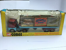 CORGI TOYS SCAMMEL CHIPPERFIELDS MENAGERIE TRANSPORTER ANIMALS 1139 1968 BOXED
