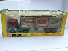 CORGI TOYS SCAMMEL Chipperfields Serraglio Transporter Animali 1139 1968 in Scatola