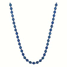 Faceted Blue Agate w/ Swarovski Spacers Necklace 30""