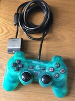 Sony PlayStation PS2 Emerald Green Controller Dual Shock MISSING Analog Thumbs