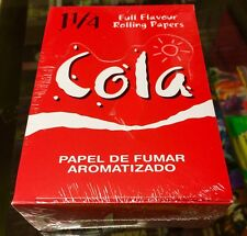 Cola - Flavoured Printed Cigarette Rolling Papers Full Box Sealed RARE L@@K
