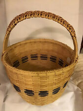 Basket Handmade  UK Blue , 15 Inch Diameter By 20 Inch Tall