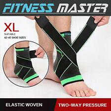 Ankle Brace Support Adjustable Elastic Foot Wrap Protector Sport Stabilizer