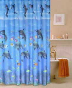 Ocean Animal Fish Design Modern Bathroom Fabric Polyester Shower Curtain 2s238