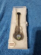 Vintage Elvis Presley Graceland Collector's Guitar Pewter by Fort Nip