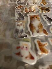 4 Pkgs Cat Stickers Puffy