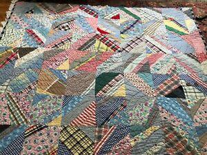 Vintage Patchwork Handmade Quilt, Signed