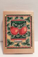 Rubber Stamp Inkadinkado Alison Jerry Apples Large 9056Y Craft Stamping Fruit