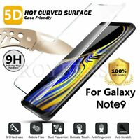 For Samsung Galaxy Note 9 S8 S9+ 5D Curved Tempered Glass Screen Protector Guard