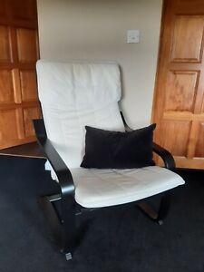 IKEA Poang Chair - Black Wenge Frame / Cream Cushion