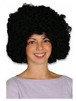 Jimmy Hendrix 1970s Super Jumbo PIMP Parrucca Afro Nera Costume NUOVO P5608