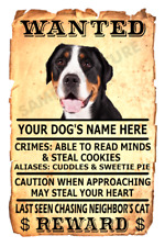 Greater Swiss Mountain Dog Wanted Poster Flex Fridge Magnet Personalize