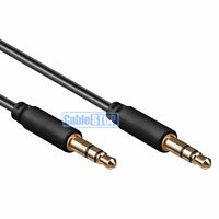3M SLIM 3.5mm Mini Stereo Jack to Jack Plug Audio Headphone Aux Cable Lead Gold