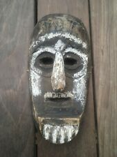 African Or Nepalese Wood Mask South American Mexico?< 00004000 /a>