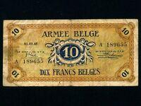 Belgium:P-M4,10 Francs 1946 * Military Issue * ARMEE *