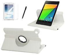 Schutzhülle f Asus Google Nexus 7 (2013) Tasche Case Etui Leder-Imitat weiss