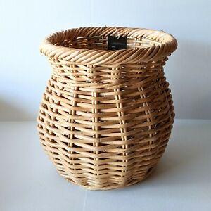 "New Threshold Rattan Basket Natural Round 13.4"" x 13.4"""