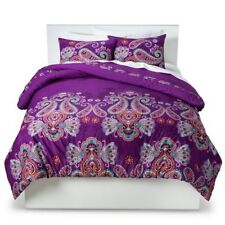 Levtex  Amethyst Purple Paisley 2pc Twin Comforter Set Homethreads NEW (HAVE 4)
