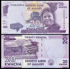 MALAWI 20 Kwacha, 2015, P-63b, Mkhuzo Jere/Domasi Teachers, UNC World Currency