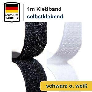 Klettband 19mm Selbstklebend Extra Stark Klettverschluss Klebepad 1,00 m