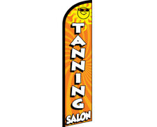 TANNING SALON Windless Full Curve Top Advertising Banner Feather Swooper Flutter