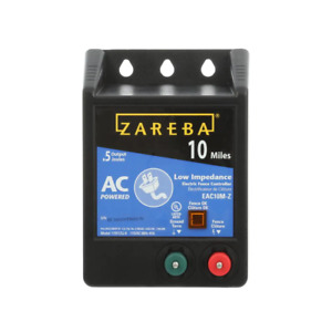 Zareba Electric Fence Charger 115V 10-Mile Low Impedance Digital Timing Fuseless