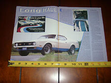 1972 MUSTANG SPRINT  - ORIGINAL 1997 ARTICLE
