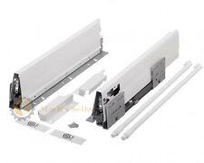 StrongBox H140mm Schubladensystem Küchenschublade Grau/Weiß mit Längsreling