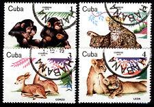 [Z5] 1Cuba 1979 Mi 2439-2442 Zoo Animals CTO