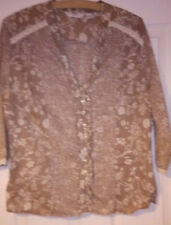 Next Floral Beige Cotton blouse size 18
