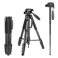 "Neewer Portable 70""/177 cm Aluminum Camera Tripod Monopod for Canon Nikon Sony"