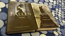 Lauren Kate First Edition 2 Hardcovers Fallen + Torment YA Fantasy Mint Like New