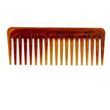 1Pc Amber Wide-tooth Comb Big Back Head Hair  Inserted Styling Tool