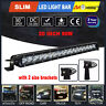New 20inch 90W Cree Spot Single Row LED Work Light Bar Offroad SUV 4x4 Driving