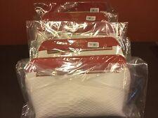 Lot of 5- Estee Lauder Snakeskin Zippered Cosmetics Makeup Travel Bags *NEW*