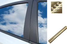 6x PREMIUM A B C Säule Tür Leisten Auto Folie Wrap Set in Carbon Chrom Gold