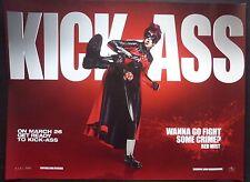 KICK ASS  ORIG CINEMA 2010 QUAD POSTER CHISTOPHER MINTZ PLASSE RED MIST