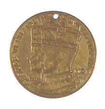 1936 Great Britain CORONATION OF GEORGE VI gilt-bronze 27mm