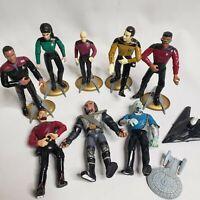 Loose Lot of 8 Vintage 1990s Star Trek Action Figures Playmates Toys