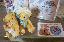 Cherished Teddies Chelsea & Daisy - SIGNED by Priscilla Hillman + PIN