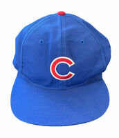 Vtg Chicago Cubs Twins Enterprise Deadstock NWT Blue Snapback Baseball Hat Cap