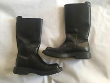 RARE Prada Men's Pull On Style Tall Leather Boots FW 1999 Collection Chunky 90's
